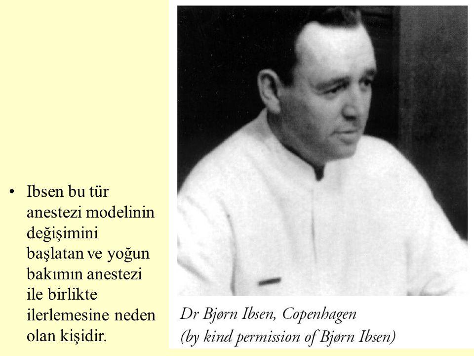 Ibsen bu tür anestezi modelinin değişimini başlatan ve yoğun bakımın anestezi ile birlikte ilerlemesine neden olan kişidir.