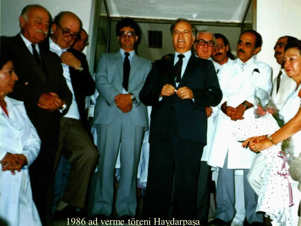 1986 ad verme töreni Haydarpaşa