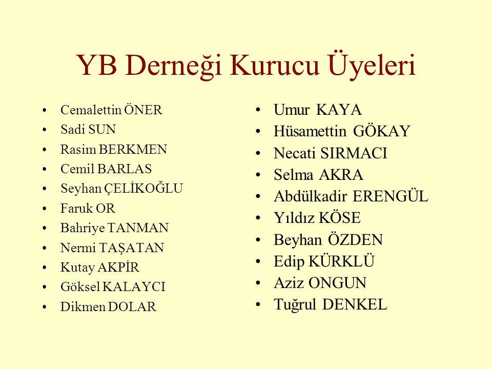 YB Derneği Kurucu Üyeleri