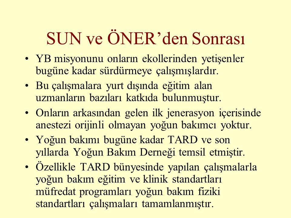 SUN ve ÖNER'den Sonrası
