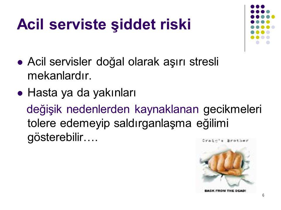 Acil serviste şiddet riski