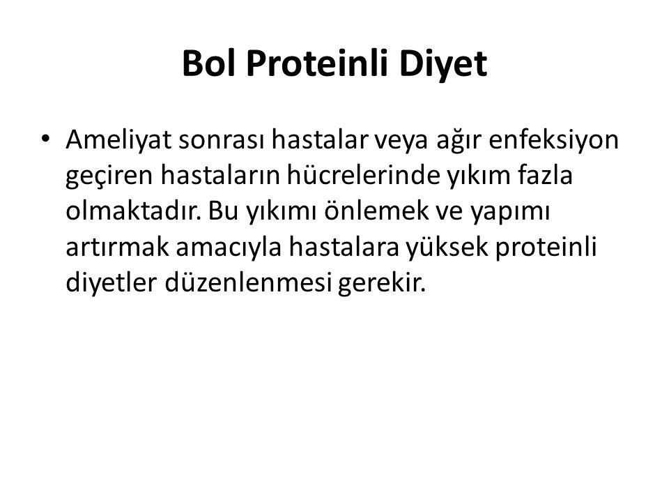 Bol Proteinli Diyet