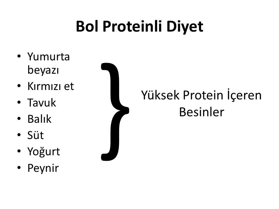 Yüksek Protein İçeren Besinler