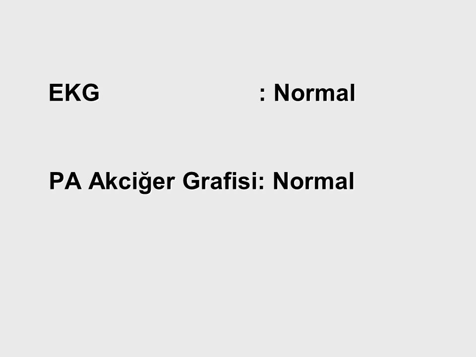 PA Akciğer Grafisi: Normal