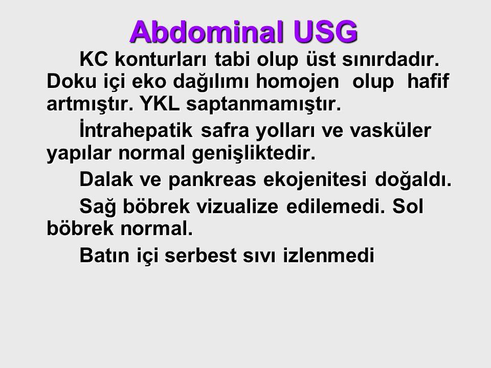 Abdominal USG