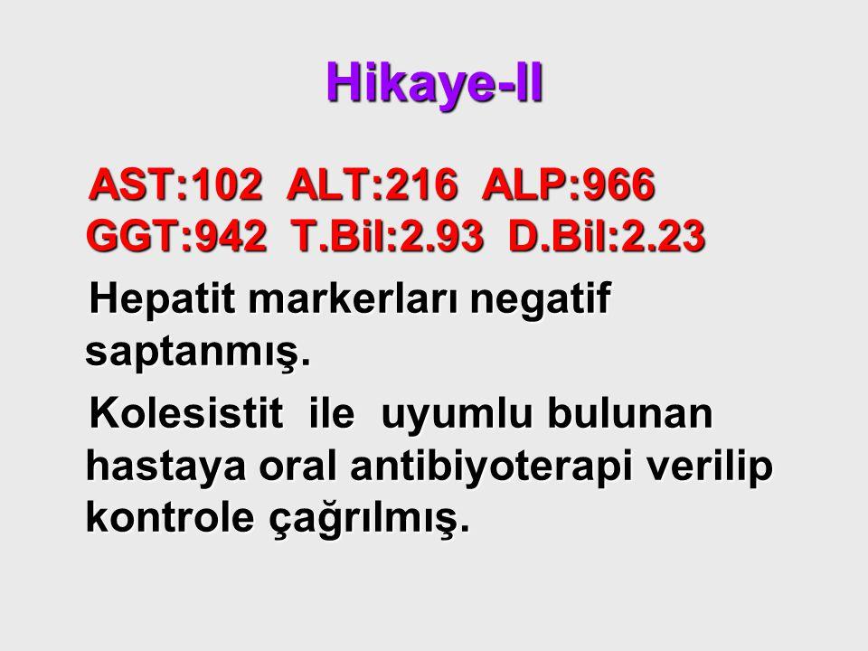 Hikaye-II AST:102 ALT:216 ALP:966 GGT:942 T.Bil:2.93 D.Bil:2.23