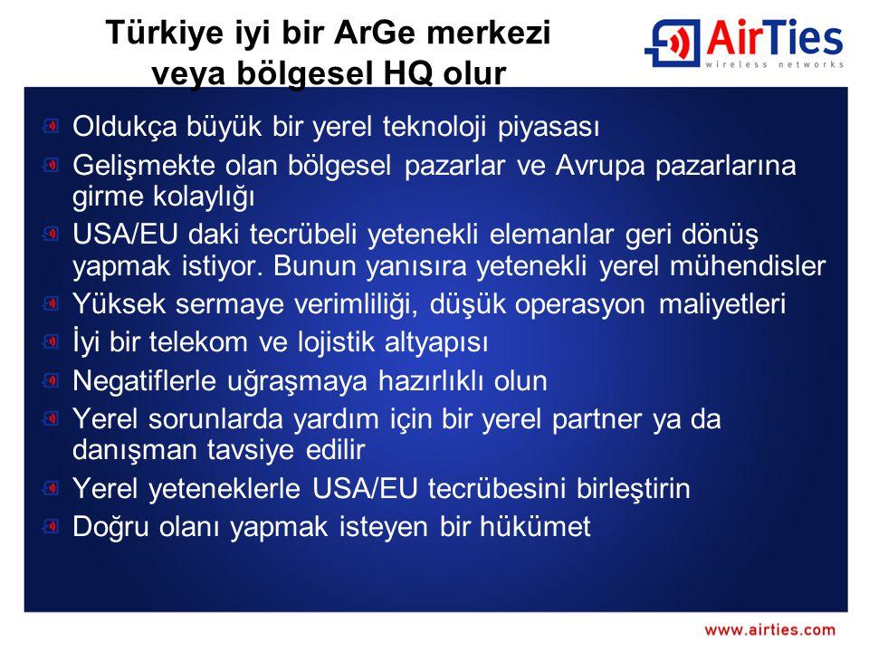 Türkiye iyi bir ArGe merkezi veya bölgesel HQ olur
