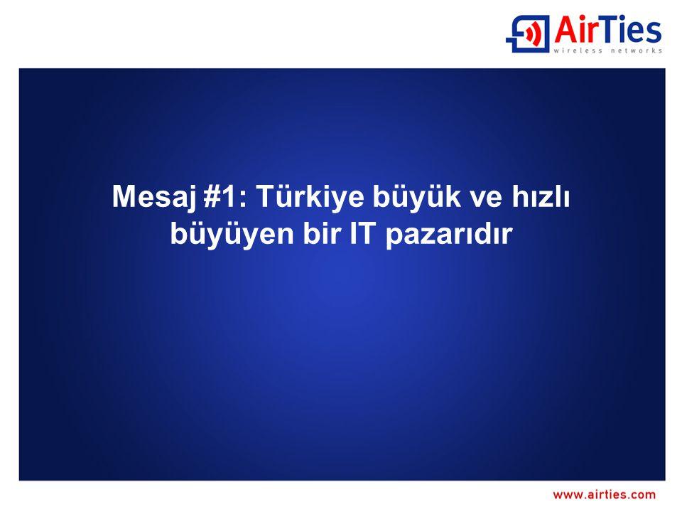 Mesaj #1: Türkiye büyük ve hızlı büyüyen bir IT pazarıdır