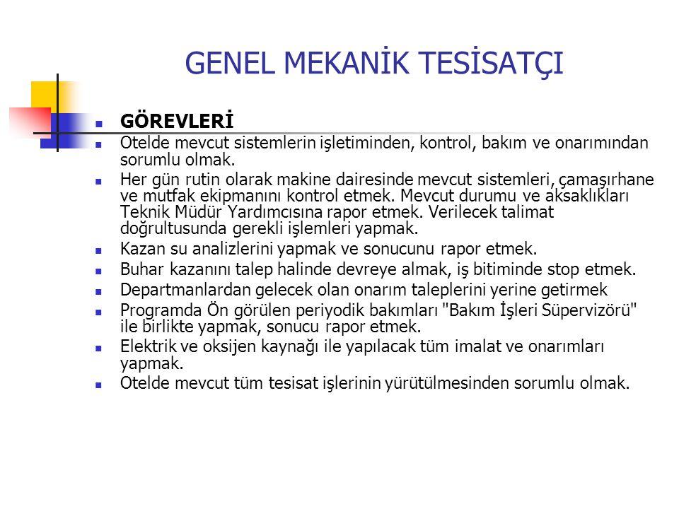 GENEL MEKANİK TESİSATÇI