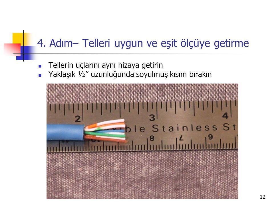 4. Adım– Telleri uygun ve eşit ölçüye getirme