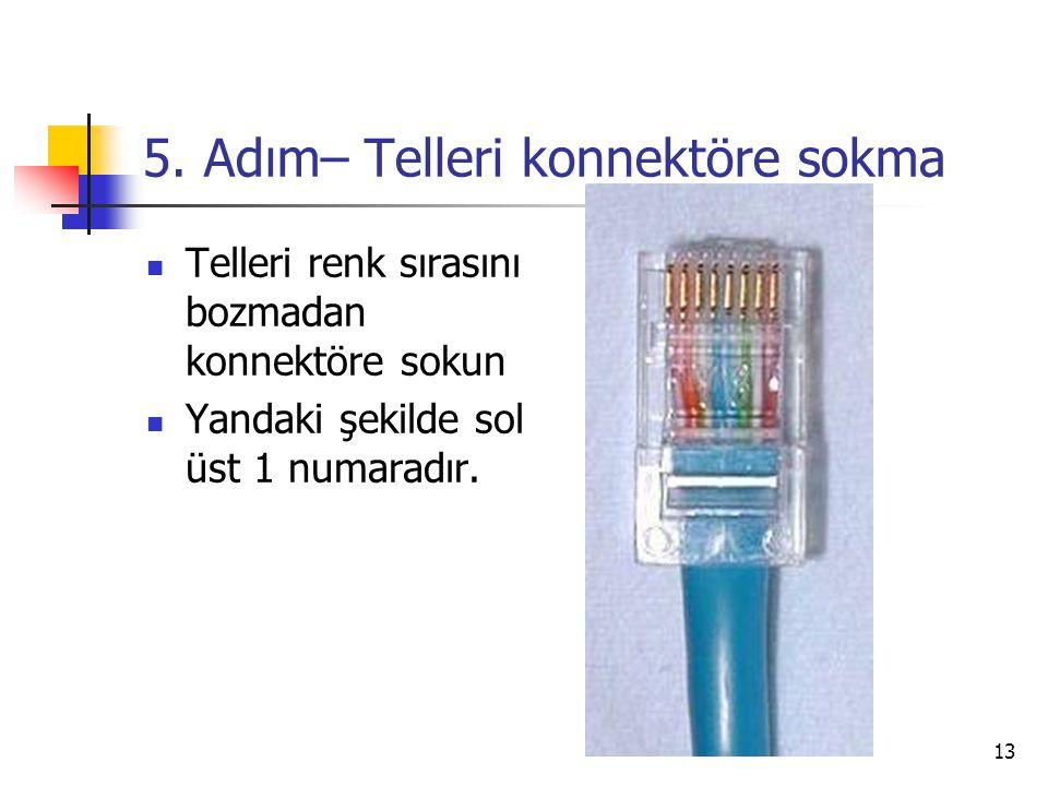 5. Adım– Telleri konnektöre sokma