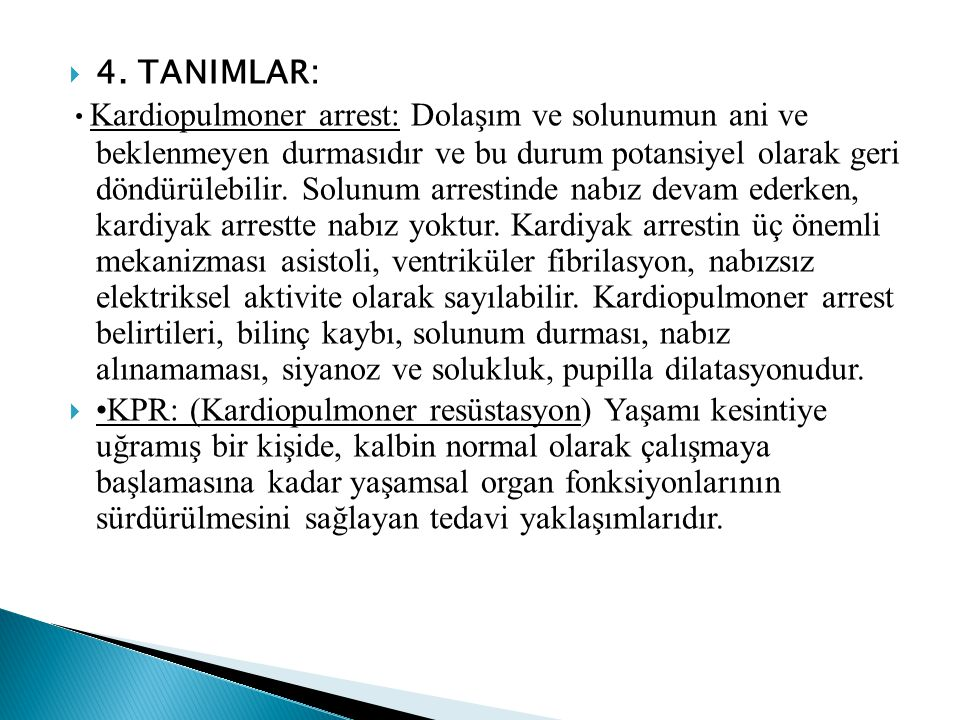 4. TANIMLAR: