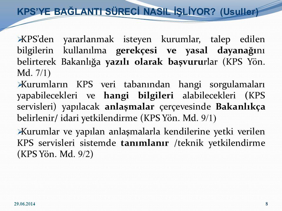 KPS'YE BAĞLANTI SÜRECİ NASIL İŞLİYOR (Usuller)