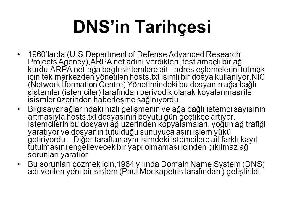 DNS'in Tarihçesi