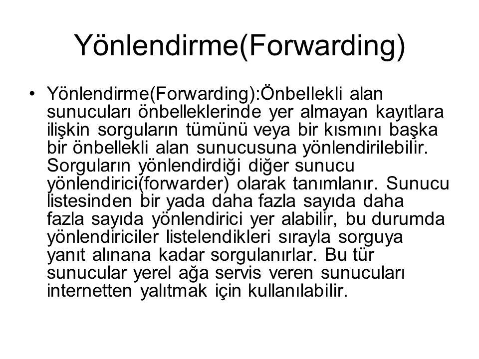 Yönlendirme(Forwarding)