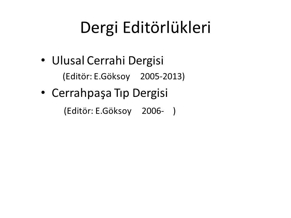 Dergi Editörlükleri ABD Dergi Editörleri Ulusal Cerrahi Dergisi