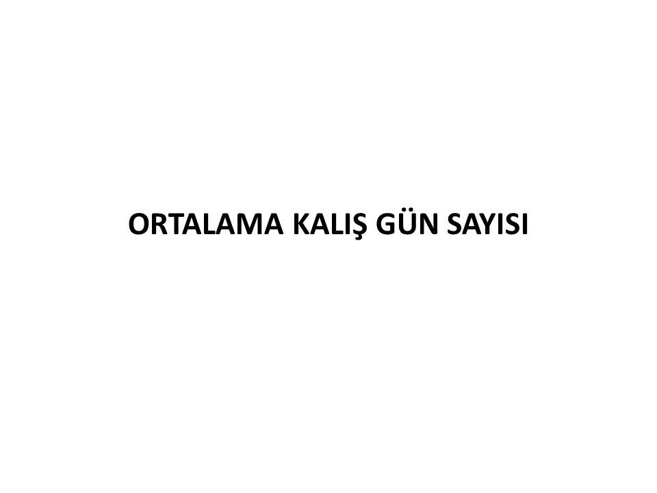 ORTALAMA KALIŞ GÜN SAYISI