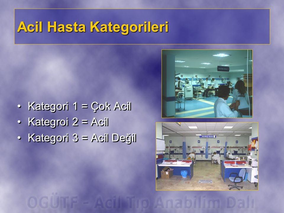 Acil Hasta Kategorileri