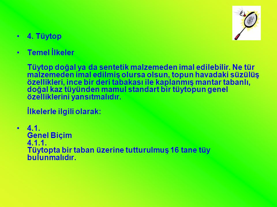 4. Tüytop