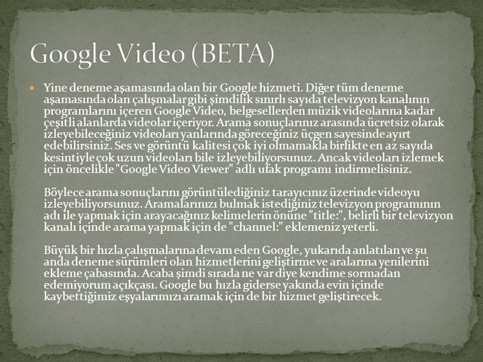 Google Video (BETA)