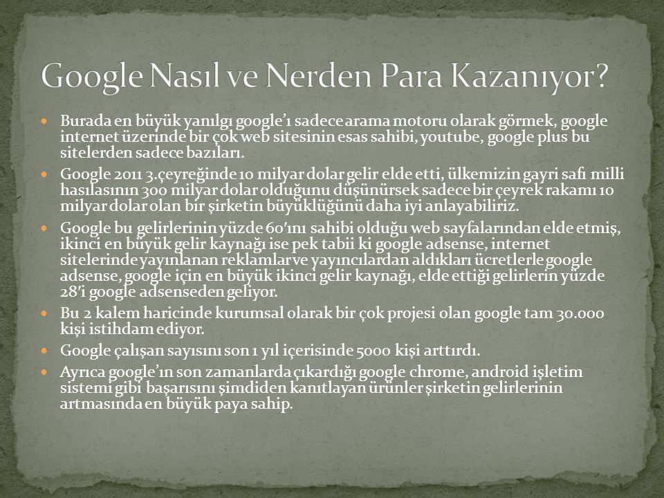 Google Nasıl ve Nerden Para Kazanıyor