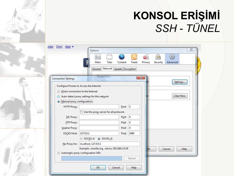 KONSOL ERİŞİMİ SSH - TÜNEL