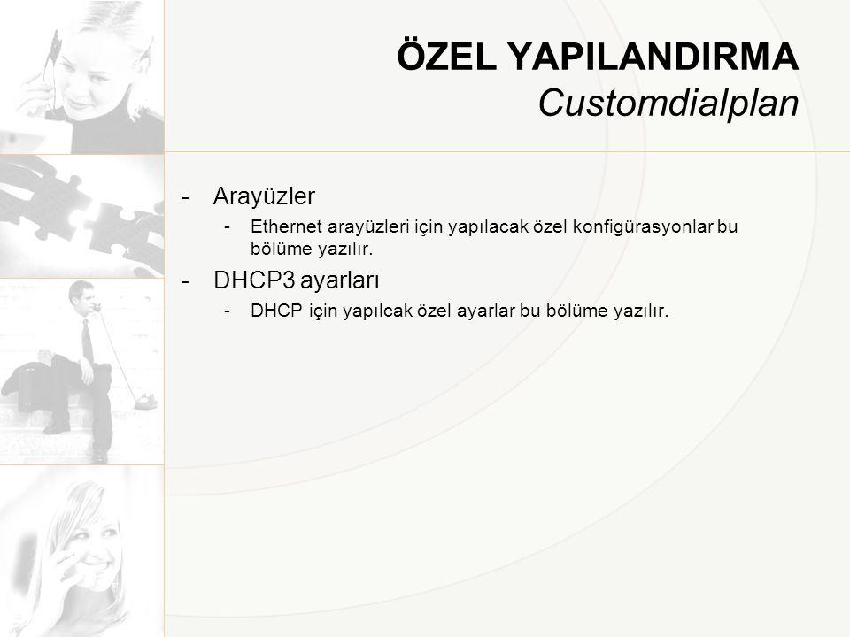 ÖZEL YAPILANDIRMA Customdialplan