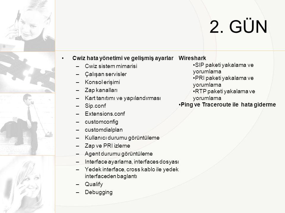 2. GÜN Cwiz hata yönetimi ve gelişmiş ayarlar Cwiz sistem mimarisi