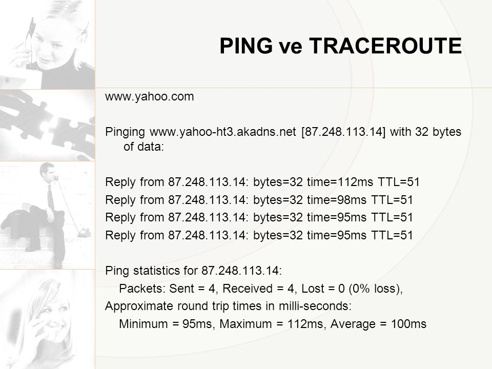 PING ve TRACEROUTE