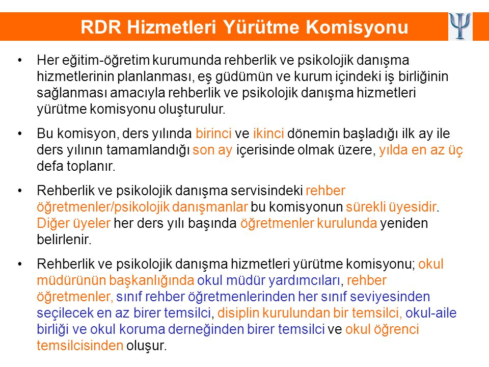 RDR Hizmetleri Yürütme Komisyonu
