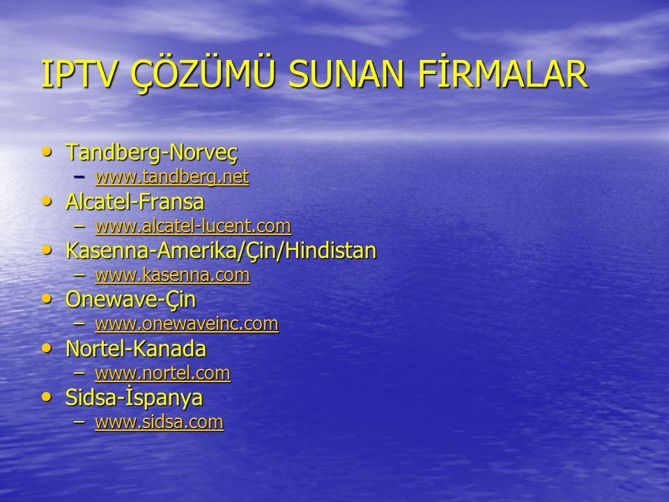 IPTV ÇÖZÜMÜ SUNAN FİRMALAR