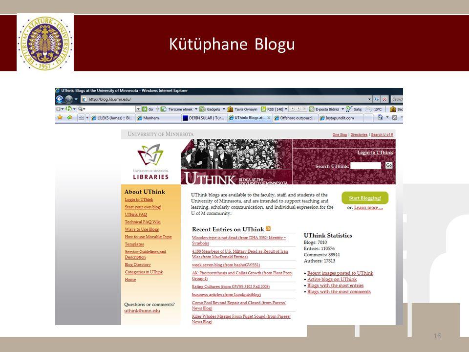 Kütüphane Blogu