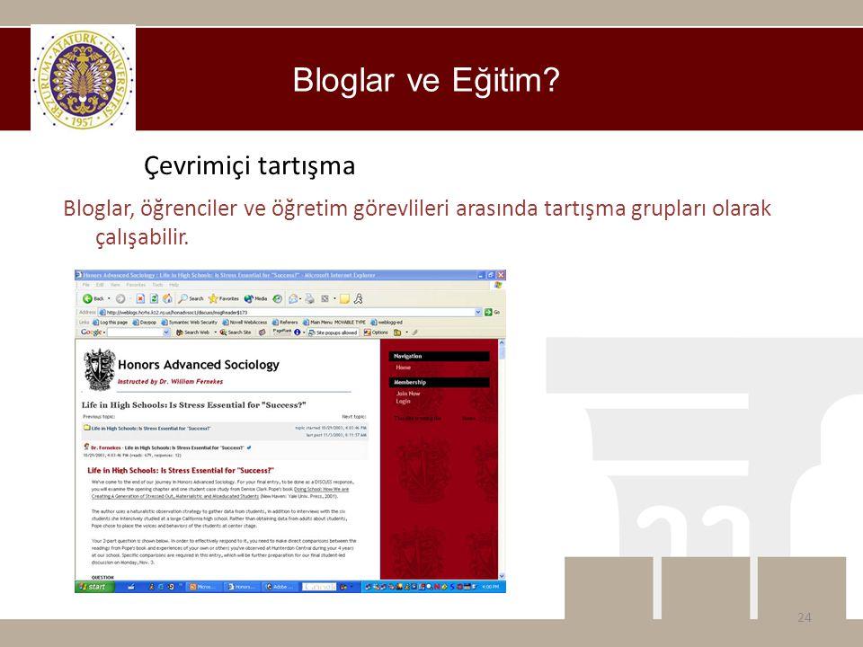 Bloglar ve Eğitim Çevrimiçi tartışma