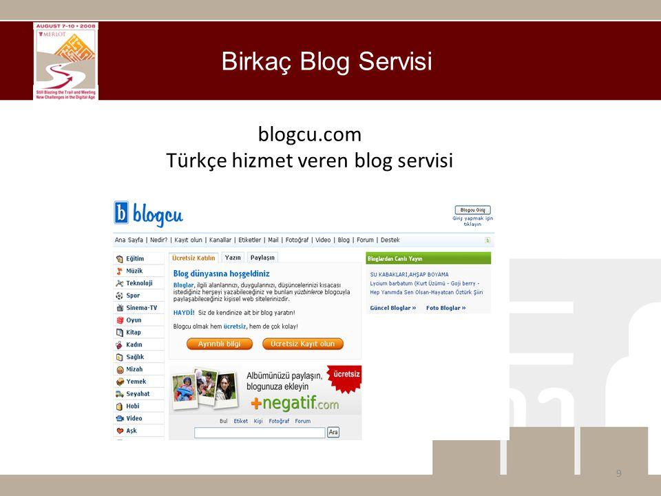 blogcu.com Türkçe hizmet veren blog servisi