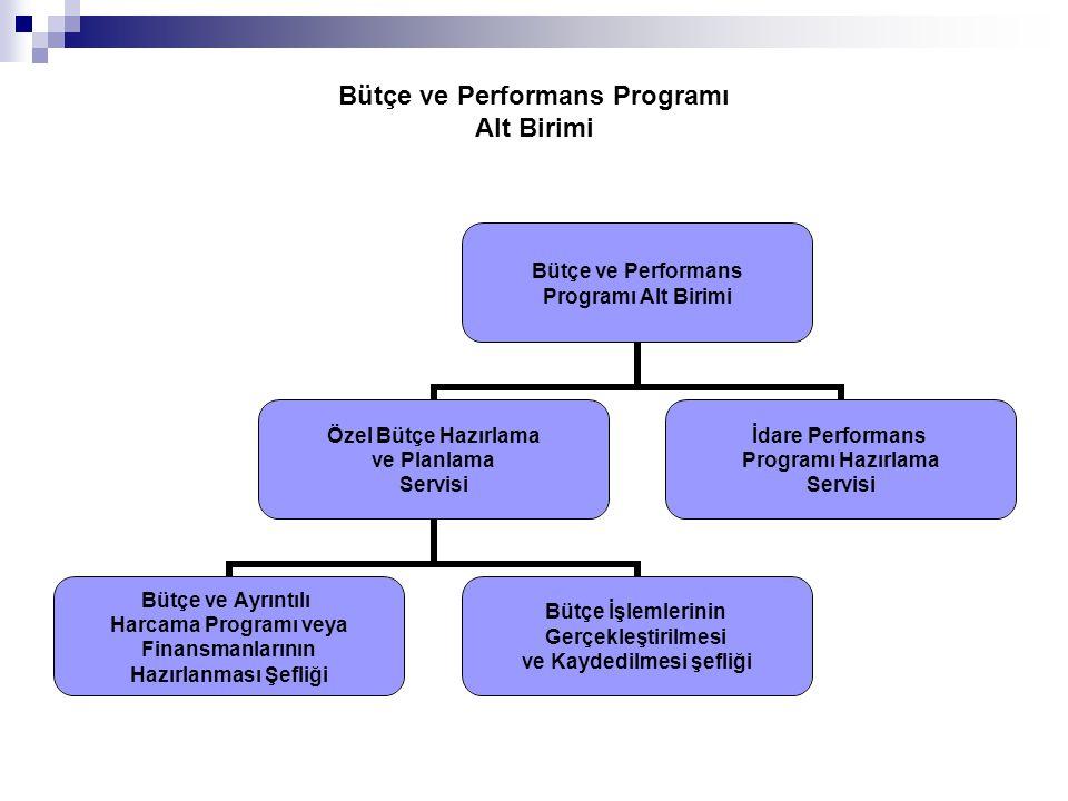 Bütçe ve Performans Programı Alt Birimi