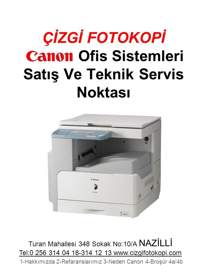 ÇİZGİ FOTOKOPİ Ofis Sistemleri Satış Ve Teknik Servis Noktası
