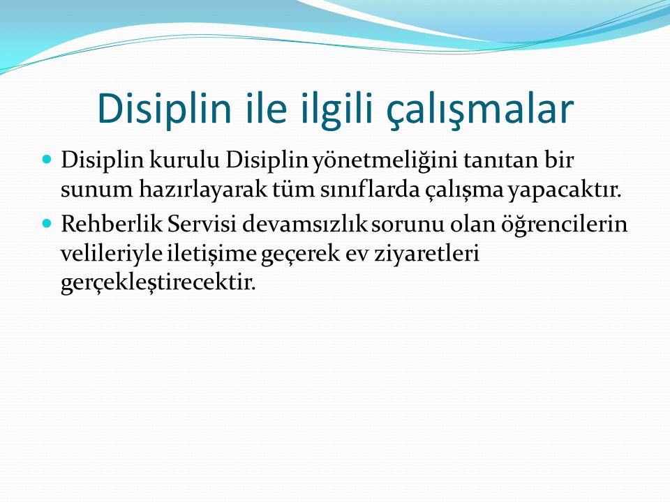 Disiplin ile ilgili çalışmalar