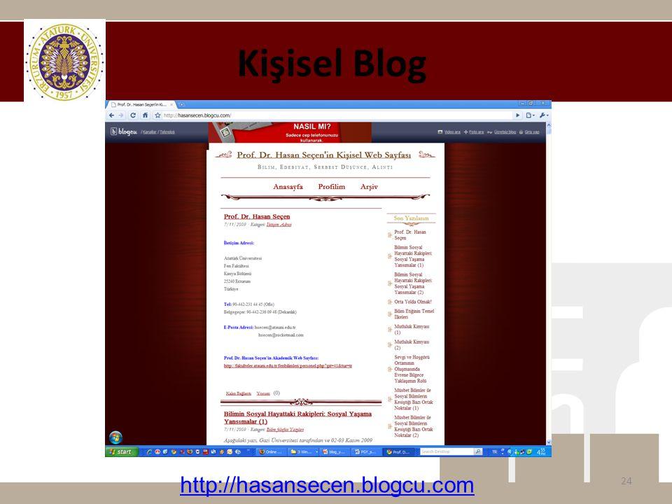 Kişisel Blog http://hasansecen.blogcu.com
