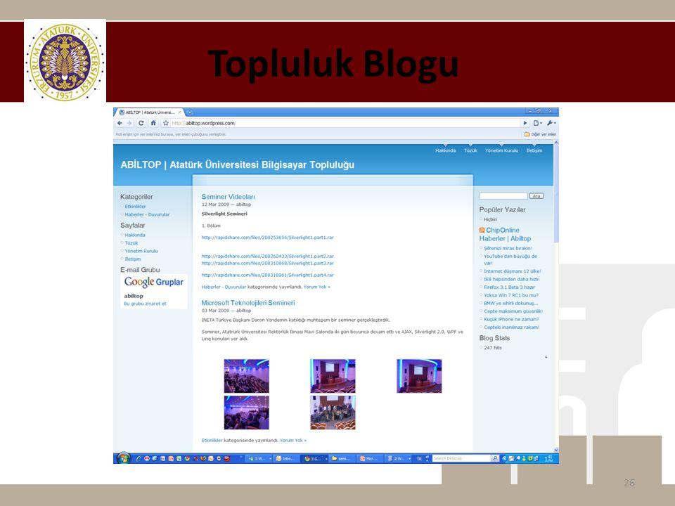 Topluluk Blogu