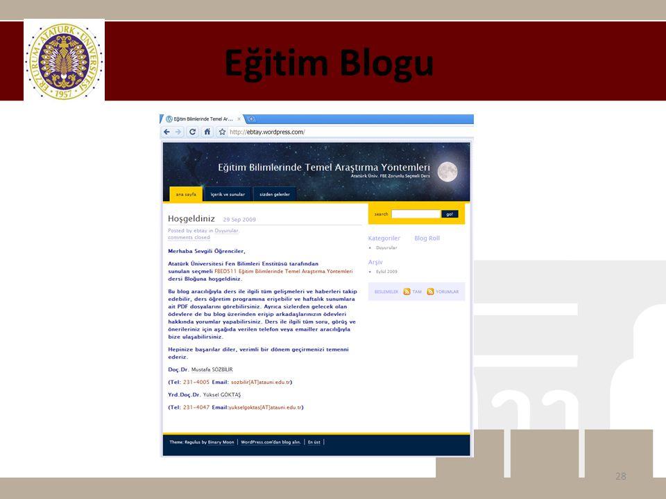 Eğitim Blogu