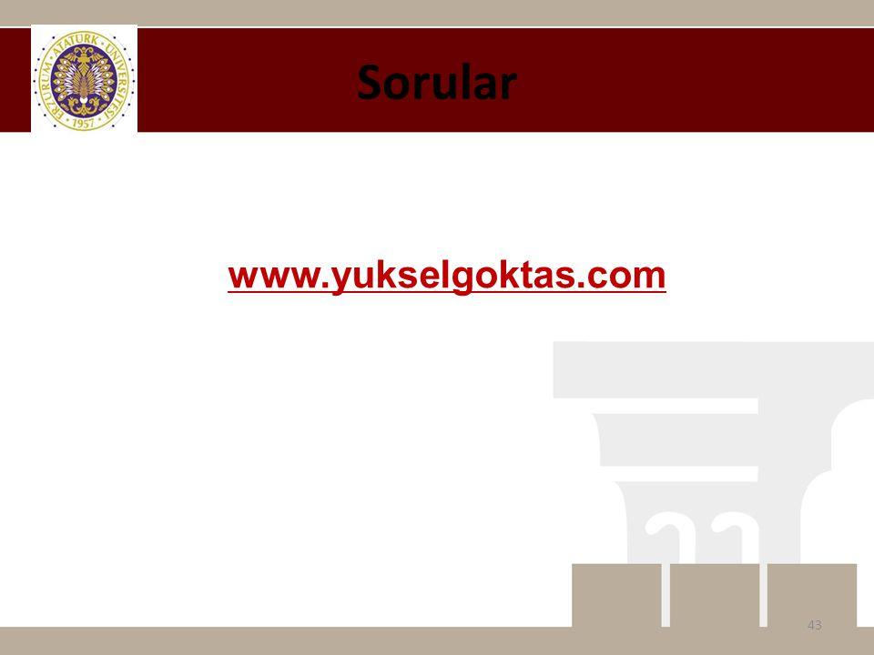 Sorular www.yukselgoktas.com