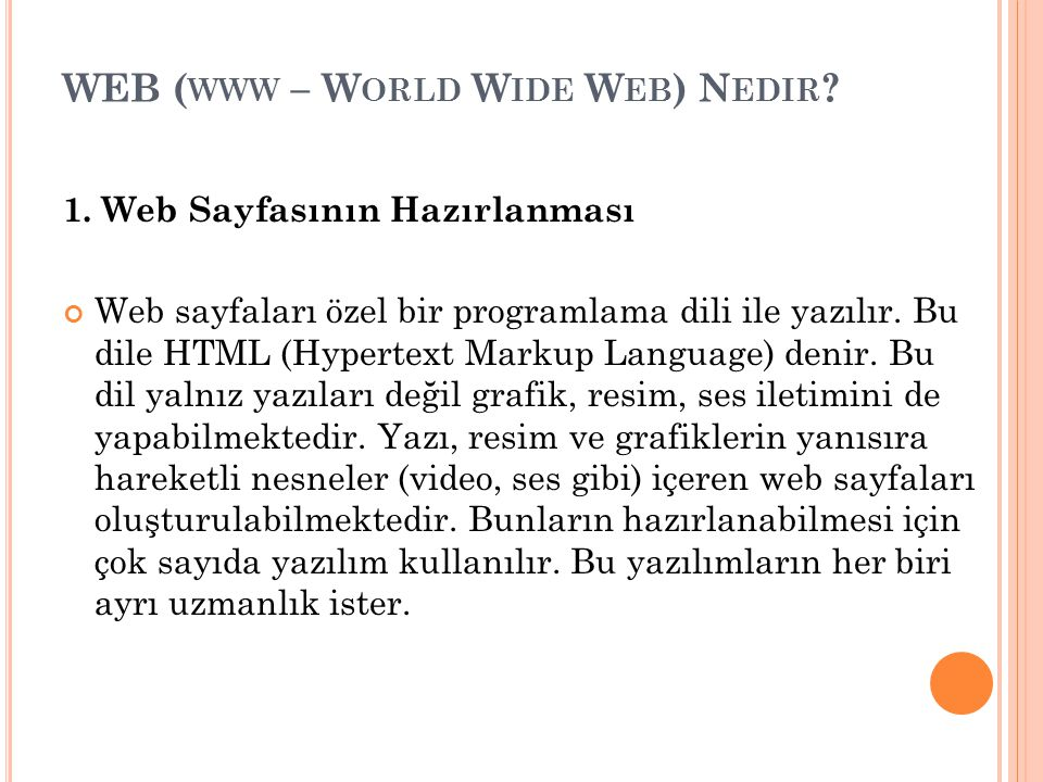 WEB (www – World Wide Web) Nedir