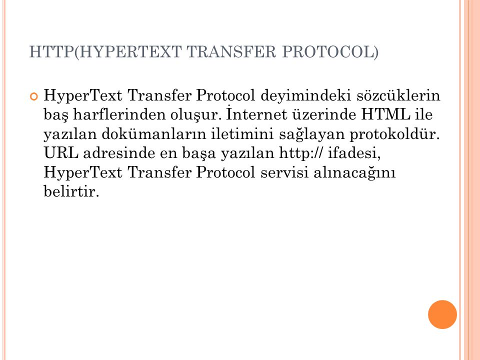 HTTP(HYPERTEXT TRANSFER PROTOCOL)
