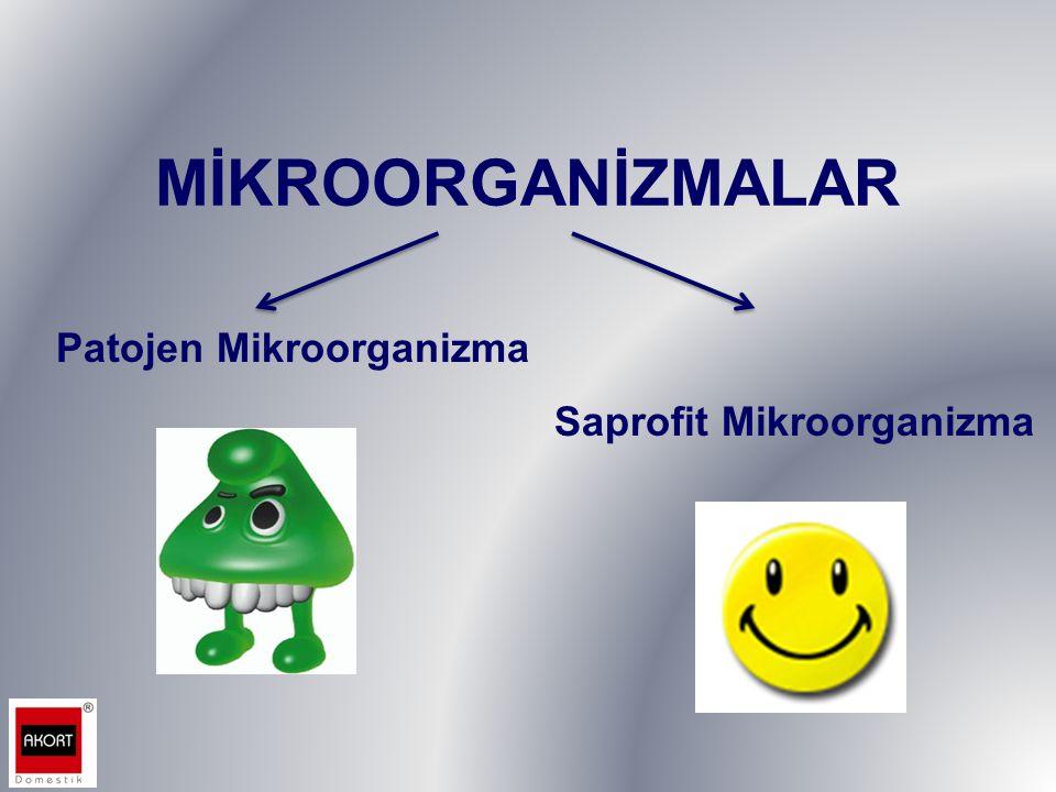 MİKROORGANİZMALAR Patojen Mikroorganizma Saprofit Mikroorganizma