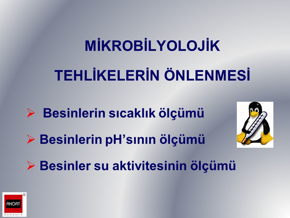 TEHLİKELERİN ÖNLENMESİ