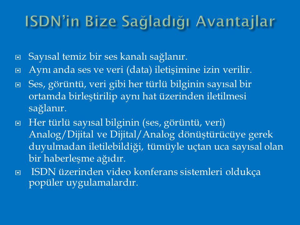 ISDN'in Bize Sağladığı Avantajlar