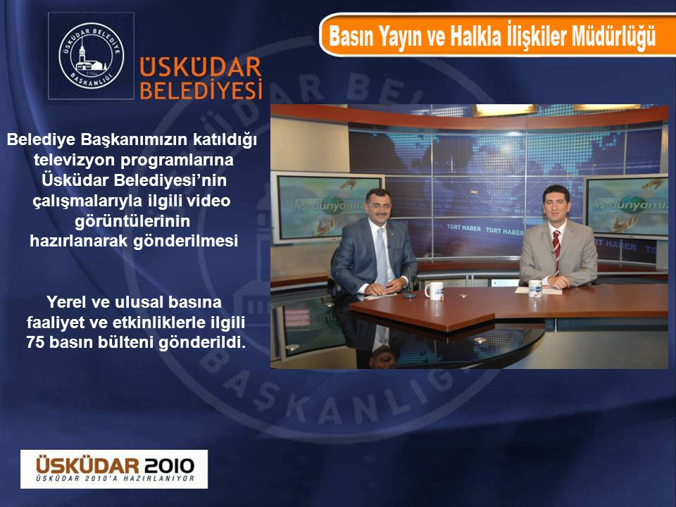 Belediye Başkanımızın katıldığı televizyon programlarına