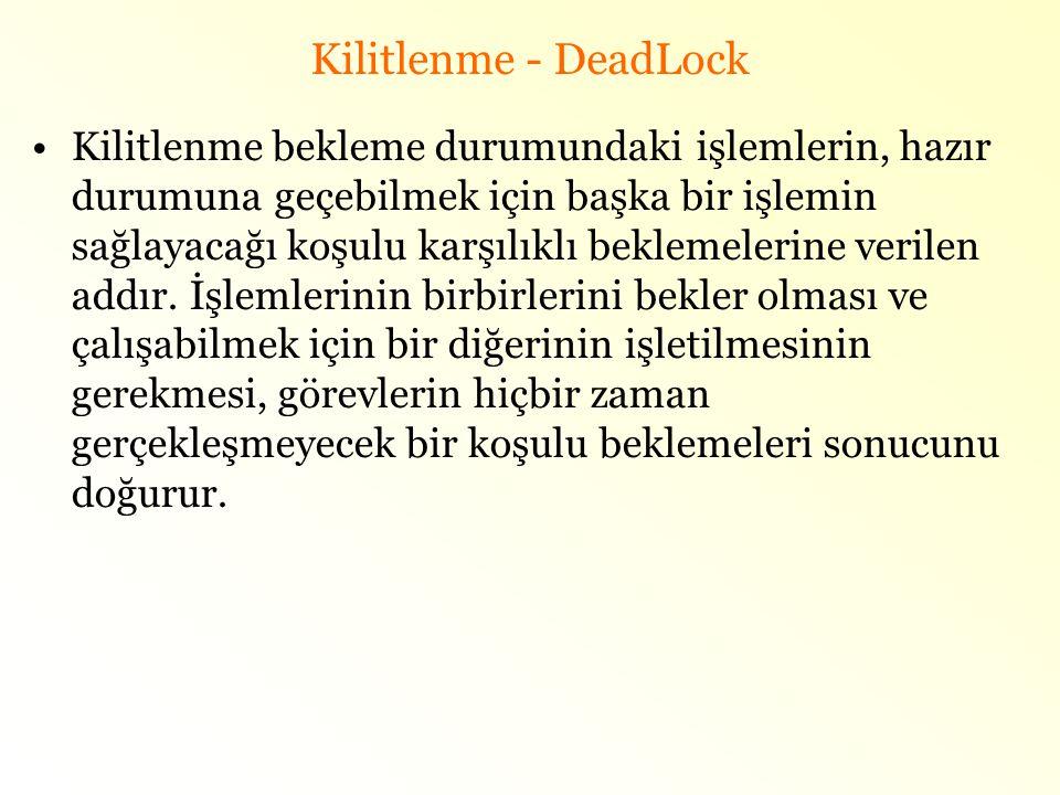 Kilitlenme - DeadLock