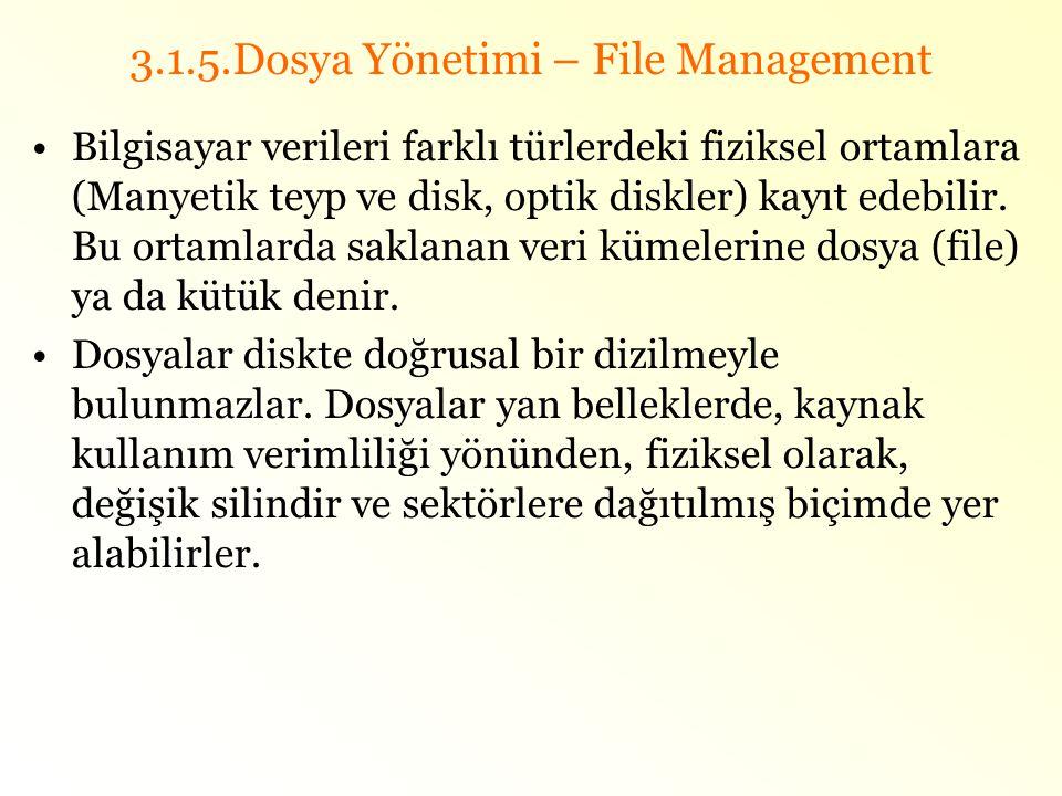 3.1.5.Dosya Yönetimi – File Management