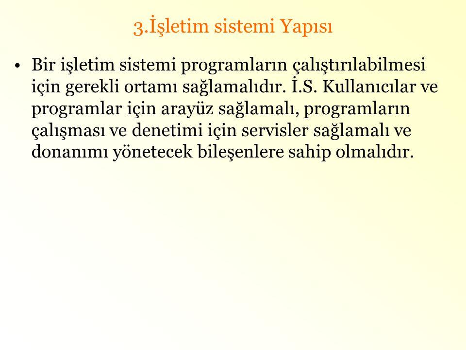 3.İşletim sistemi Yapısı